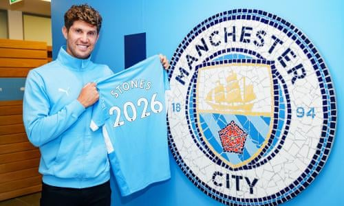 England defender John StonesOfficially renewed his contract with Manchester City until 2026. Manchester City's website has confirmed the signing of Stones' new